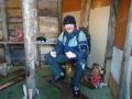 Первая рыба, пойманная в новом домике на льду Серменка