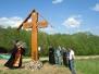Установка Креста в честь Крестного хода. Монастырь Св. Ольги у истока р. Волги. Май 2012