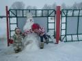 Февральский снеговик_найдите 10 отличий